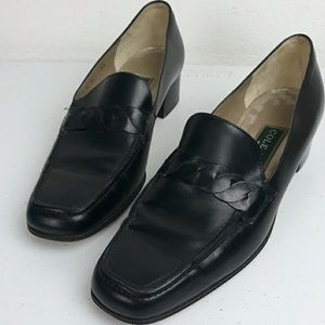 COLE HAAN BLACK LOAFERS SZ 7
